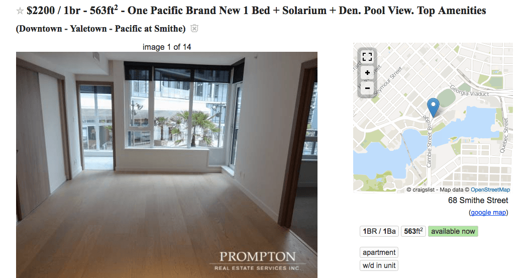 One Pacific rental