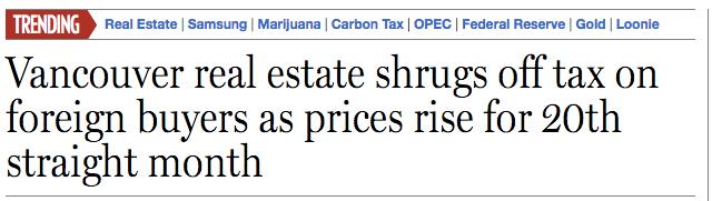 foreign buyers tax headline