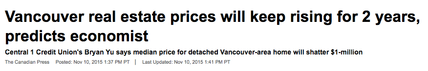 Vancouver real estate news 2015