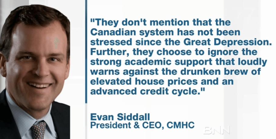 Evan Siddall CMHC