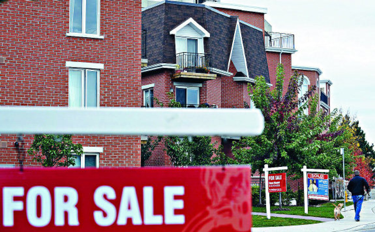 Canadian home price change