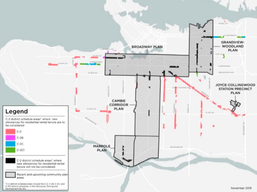 city of Vancouver rental zoning