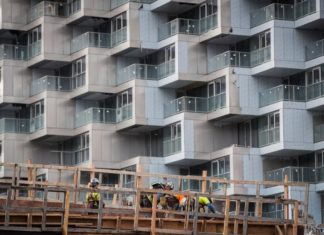 apartment under construction in Vancouver